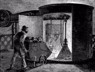 Coke iron smelting